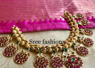Cute Stone Necklace From Sree Exotic Jewelleries