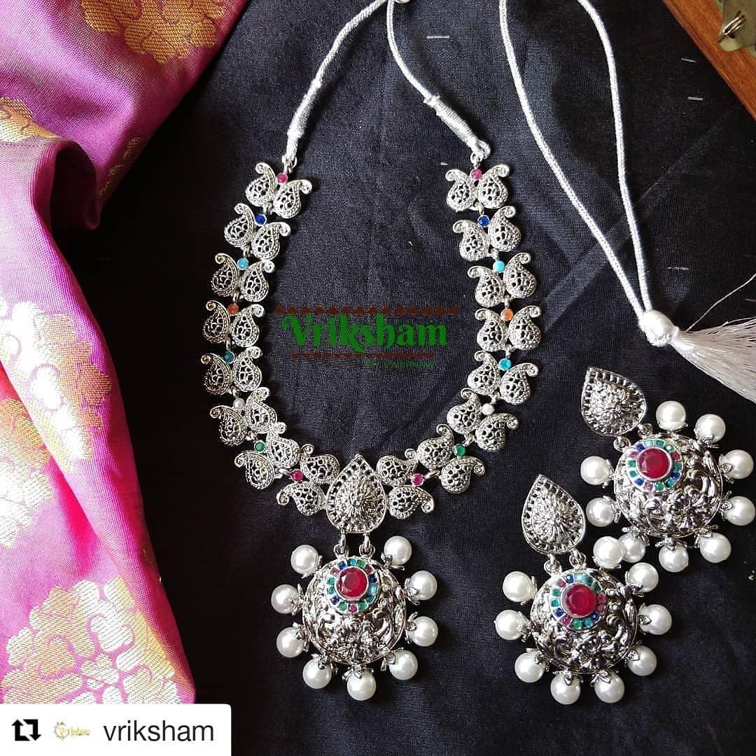 Gorgeous German Silver Necklace From Vriksham