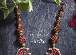 Precious Rudra Ball Necklace From Abharanam