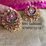 Pretty Earring Set From Sree Exotic Silver Jewelleries