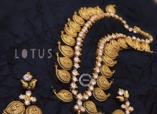 Royal Lakshmi-Long Necklace From Gold Lotus Silver Jewelleries