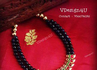 Semi Precious Mango Necklace From Vdesign