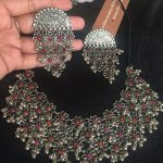 Silver Floral Necklace Set From Silver Cravings Jewellery
