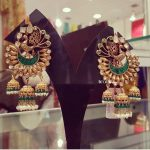 Stunning Peacock Kundan Earring From Bcos Its Silver