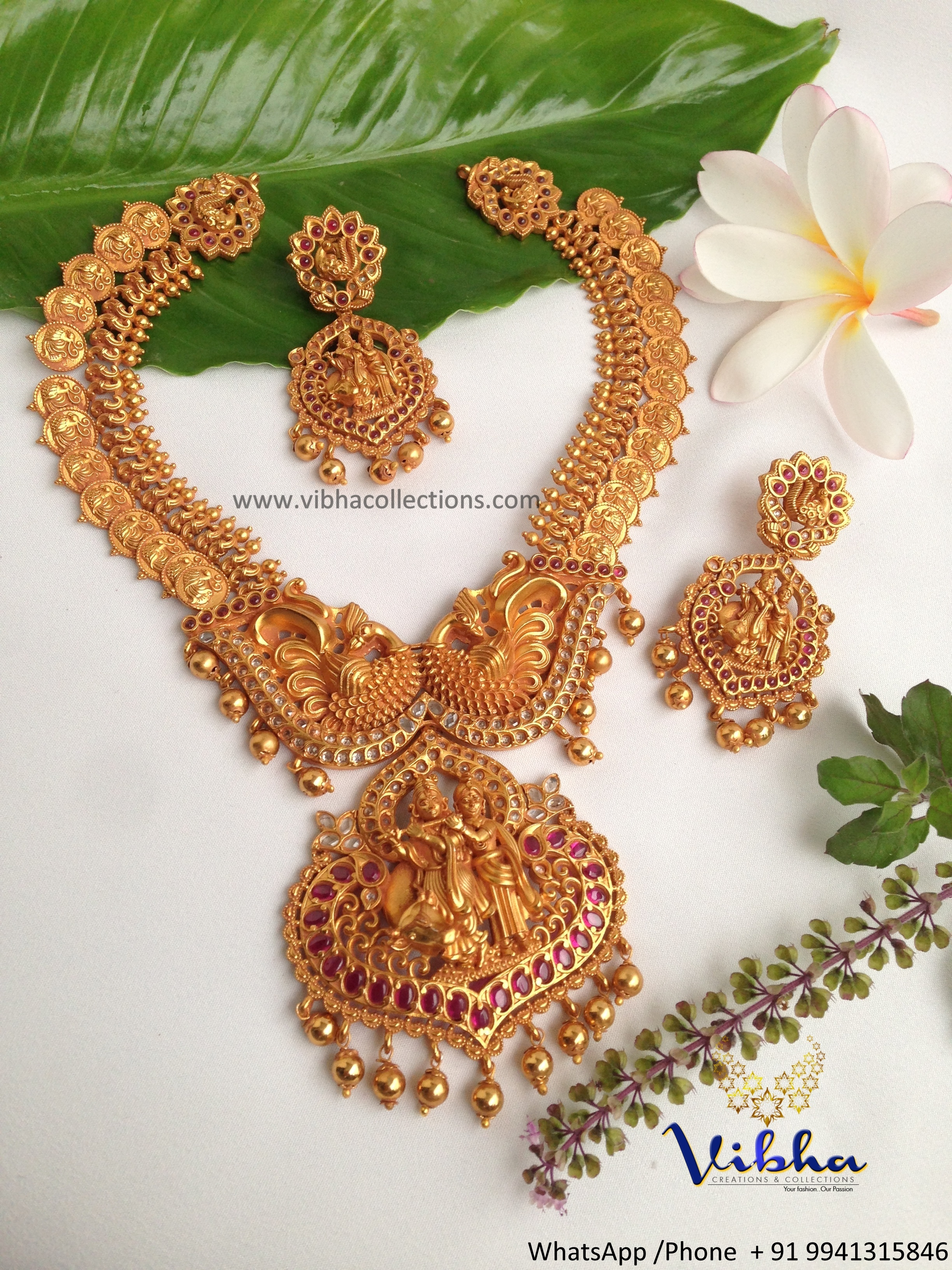Stunning Temple Necklace Set from Vibha Creations