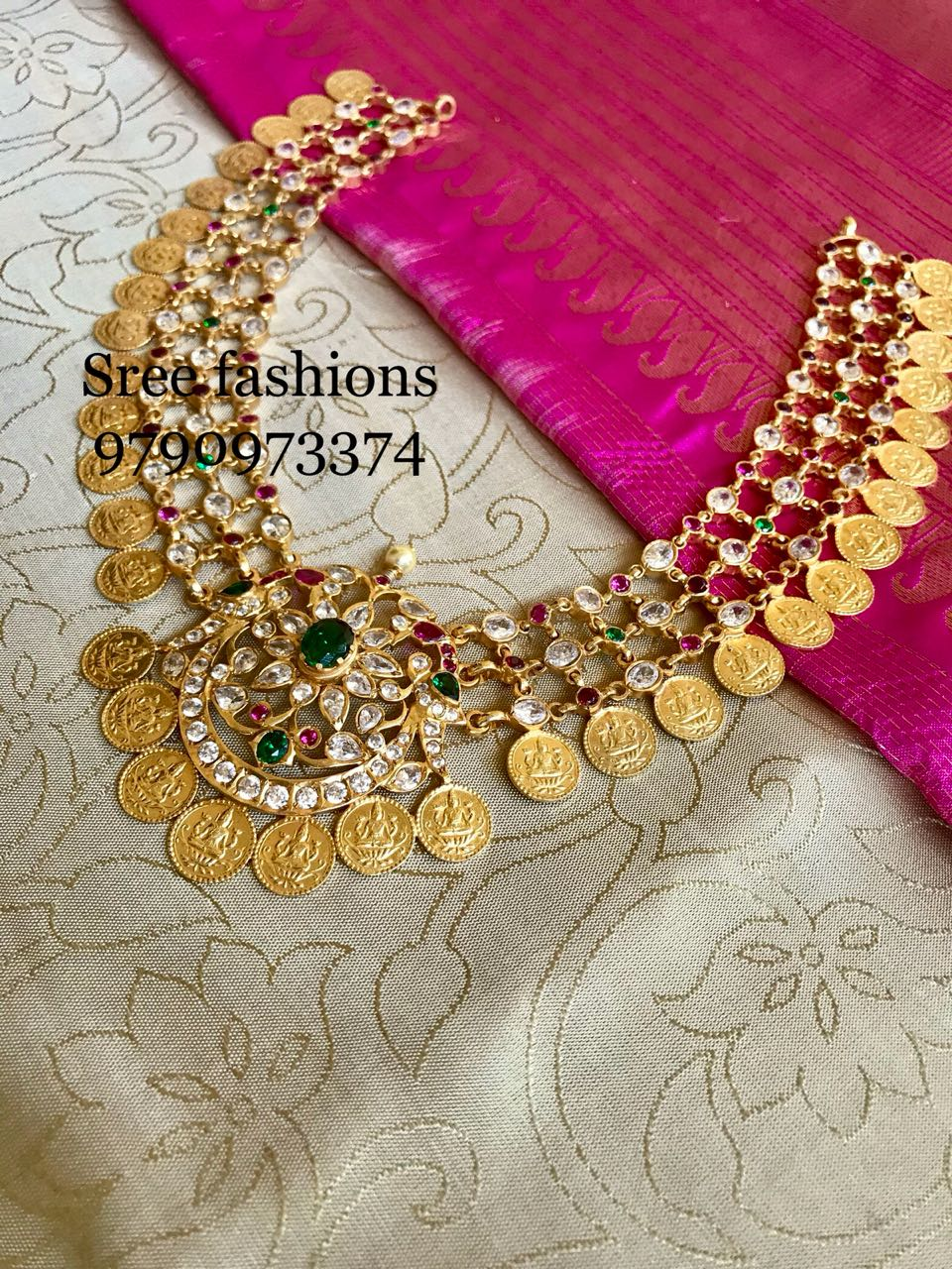 Traditional Coin Necklace From Sree Exotic Jewelleries