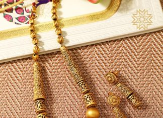 Trendy Gold Necklace From Manubhai Jewellers