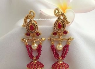 Unique Peacock Earring From Vibha Creations