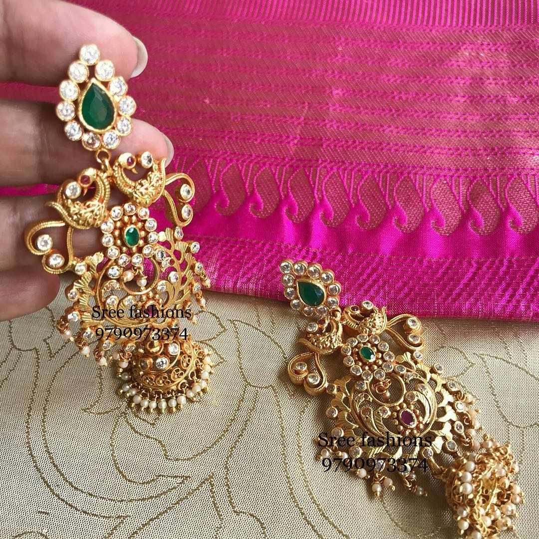 Adorable Jhumka From Sree Exotic Silver Jewelleries