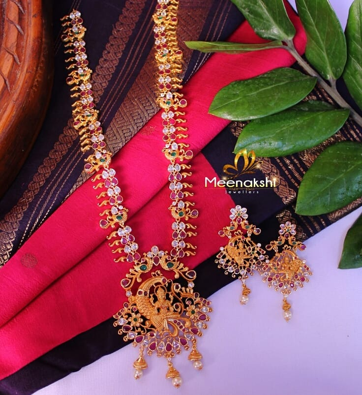 Alluring Long Haram From Meenakshi Jewellers