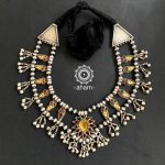 Amazing Glass And Silver Necklace From Aham