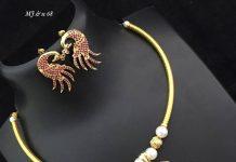 Amazing Peacock Necklace Set From Abhi's JewelHunt