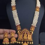 Attractive Pearl Temple Necklace From Dhruvam