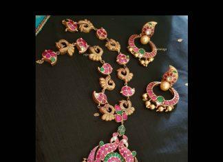 Beautiful Long Necklace From Rajatamaya