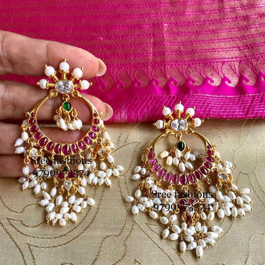 Decorative Silver Earring From Sree Exotic Silver Jewelleries