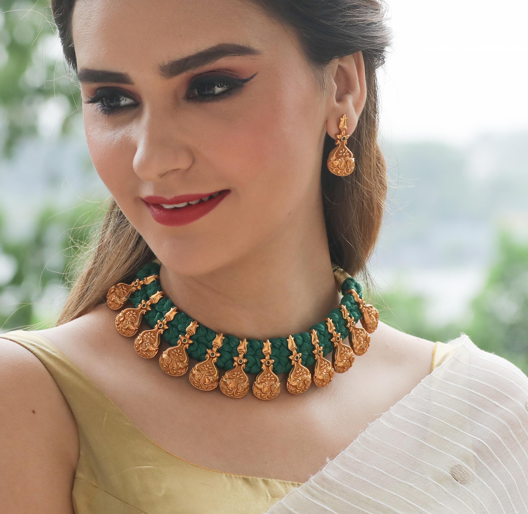 Decorative Threaded Necklace From Tarinika
