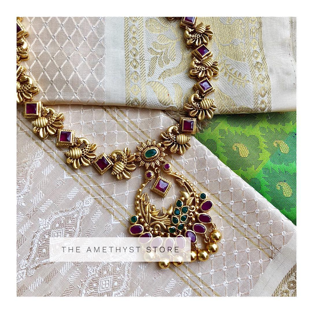 Delightful-Silver-Gold-Plated-Necklace From The Amethyst Store