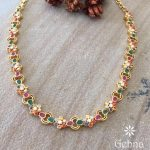 Graceful Gems Stone Necklace From Gehna India
