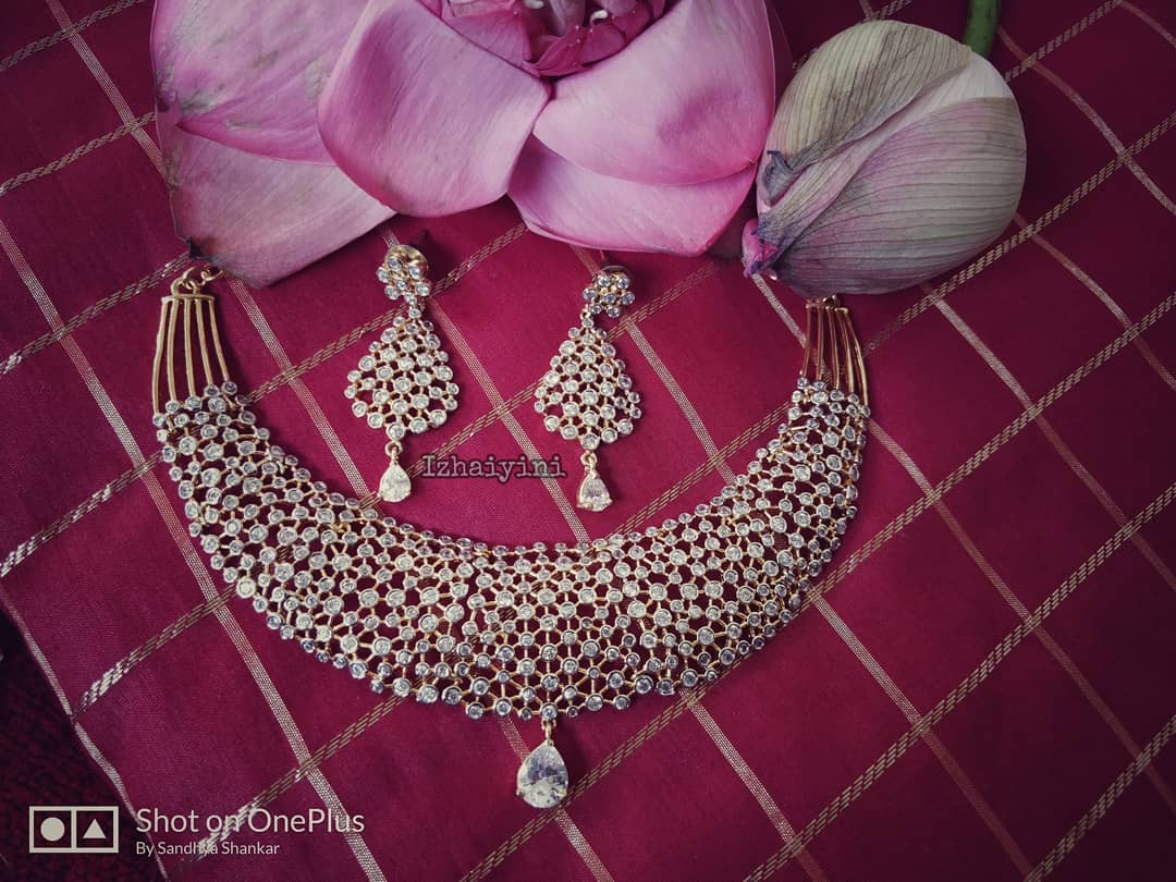 Handcrafted AD Stone Choker Set From Izhaiyini