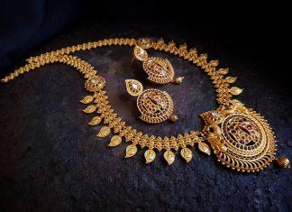 Kerala Style Kemp Necklace Set From Happypique