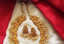 Lakshmi Pearl Neckpiece From Emblish Coimbatore