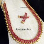 Matt Finish Ruby Alloy Haram Set From Precious And You