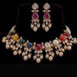 Navarathna Necklace Set From Aarni By Sharavani