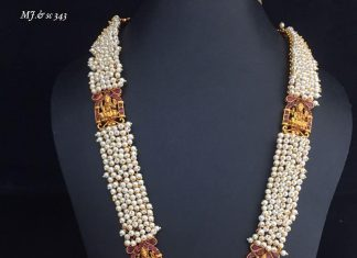 Precious Pearl Necklace Set From Dhruvam