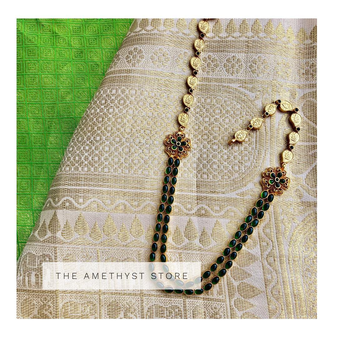 Pretty Gold Plated Silver Long Necklace From The Amethys Store
