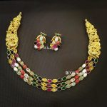 Pretty Navarathna Necklace Set From Bcos Its Silver