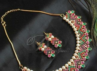 Pretty Navarathna Necklace Set From Dreamjwell