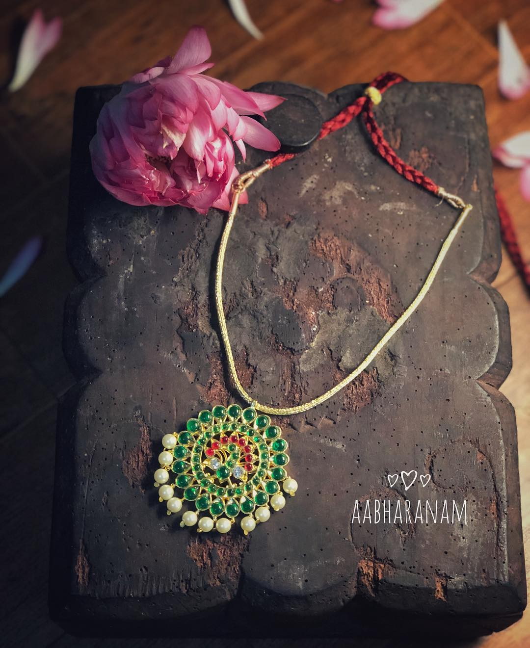 Simple And Cute Necklace From Aabharanam