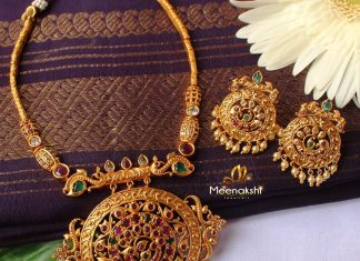 Simple Cute Necklace From Meenakshi Jewellers