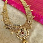 Stunning Long Necklace From Sree Exotic Silver Jewelleries