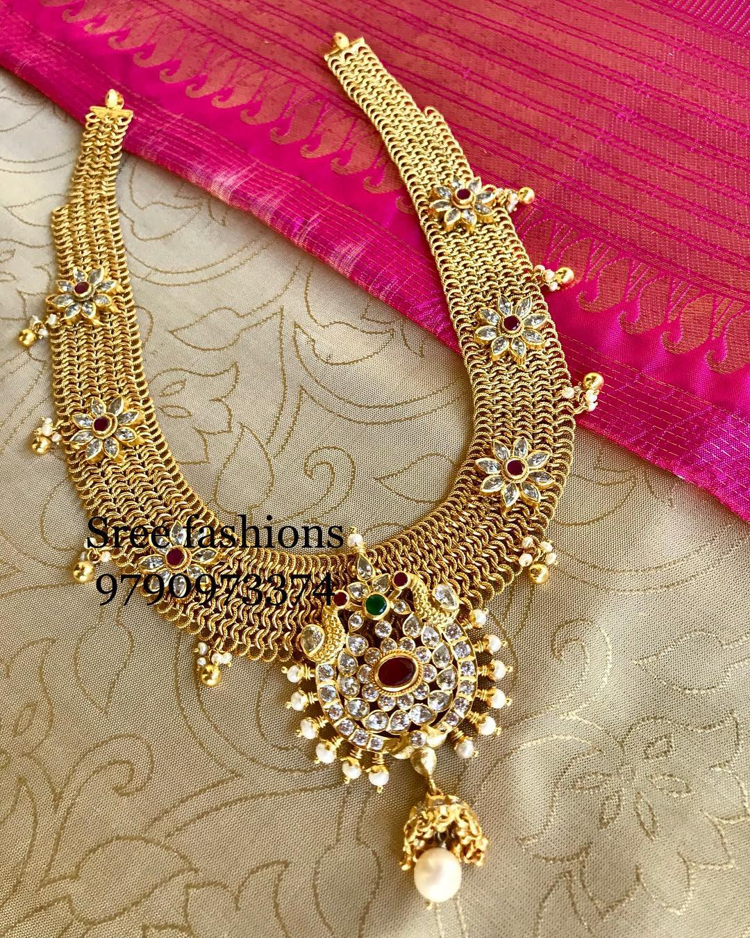 Stunning-Long Necklace From Sree Exotic Silver Jewelleries