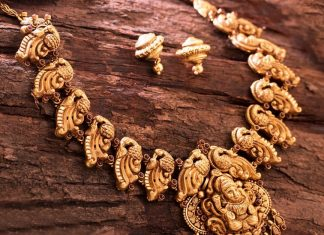 Trditional Gold Necklace From VBJ