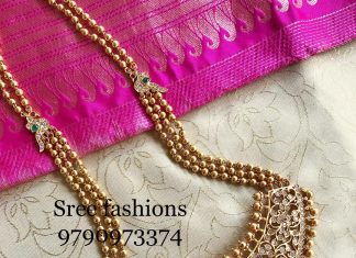 Adorable Long Necklace From Sree Exotic Silver Jewelleries