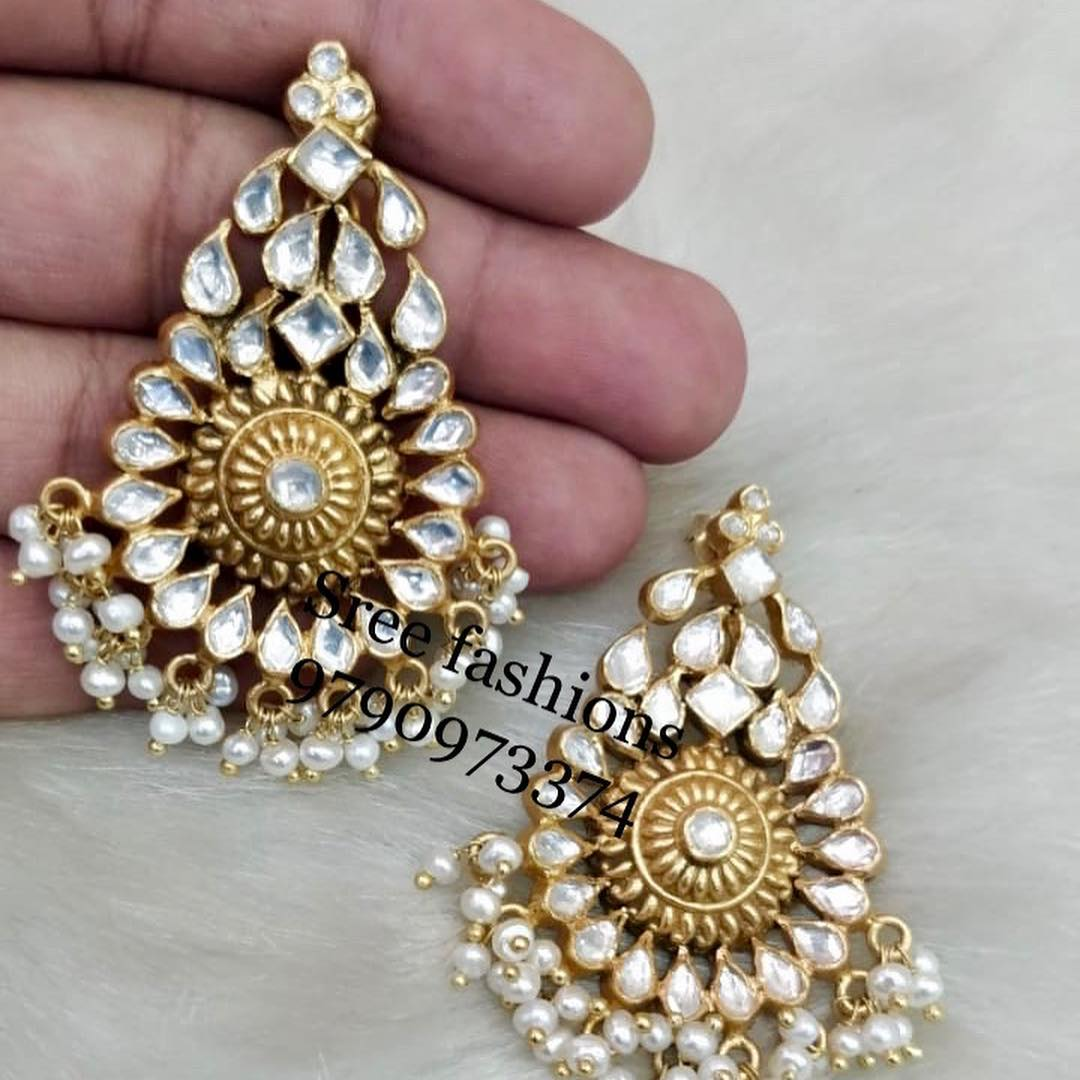 Adorable Silver Earring From Sree Exotic Silver Jewelleries