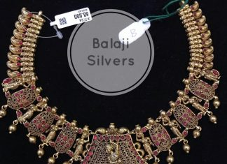 Artistic Silver Necklace From Balaji Silvers