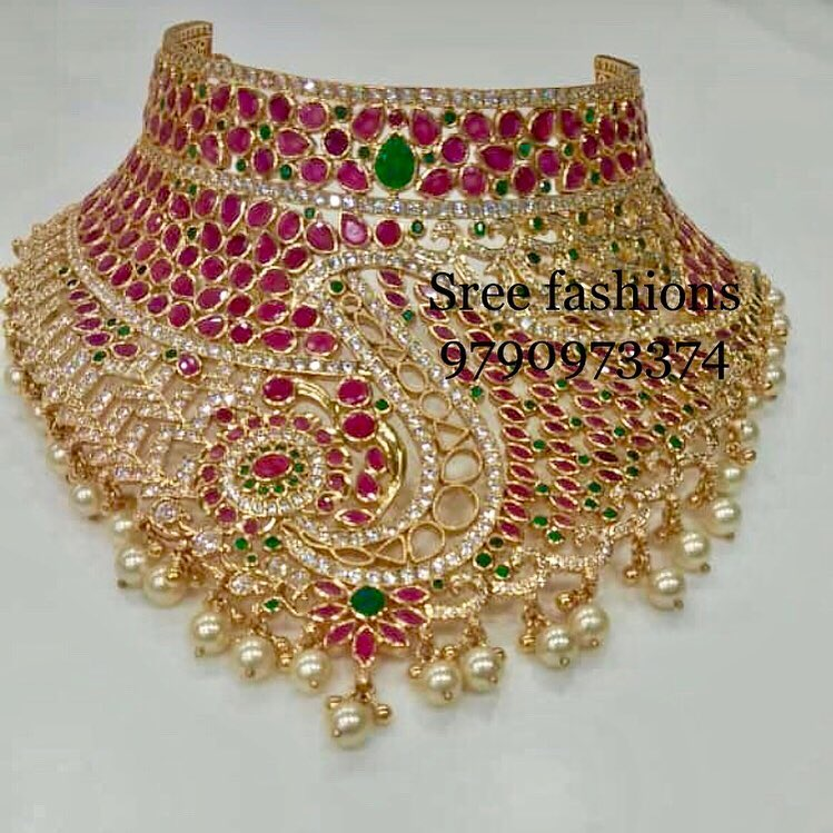 Beautiful Bridal Choker From Sree Exotic Silver Jewelleries