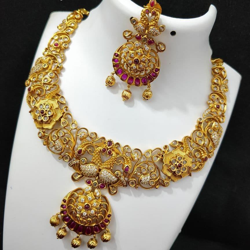 Beautiful Matt Finish Necklace From Mia Fashions