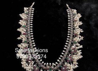 Cute Guttapusalu Necklace From Sree Exotic Silver Jewelleries