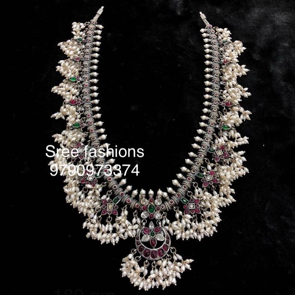 Cute Guttapusalu Necklace From Sree Exotic Silver Jewelleries