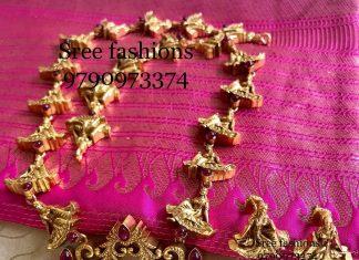 Decorative Devasena Nagas Haram From Sree Exotic Silver Jewelleries