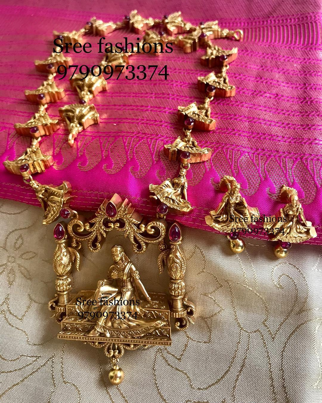 Decorative Devasena Nagas Haram From Sree Exotic Silver Jewelleries
