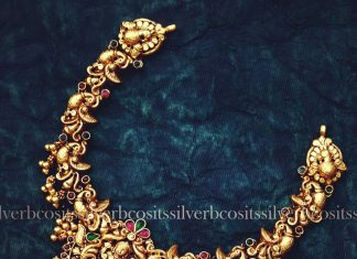 Ethnic Gold Plated Silver Necklace From Bcos Its silver