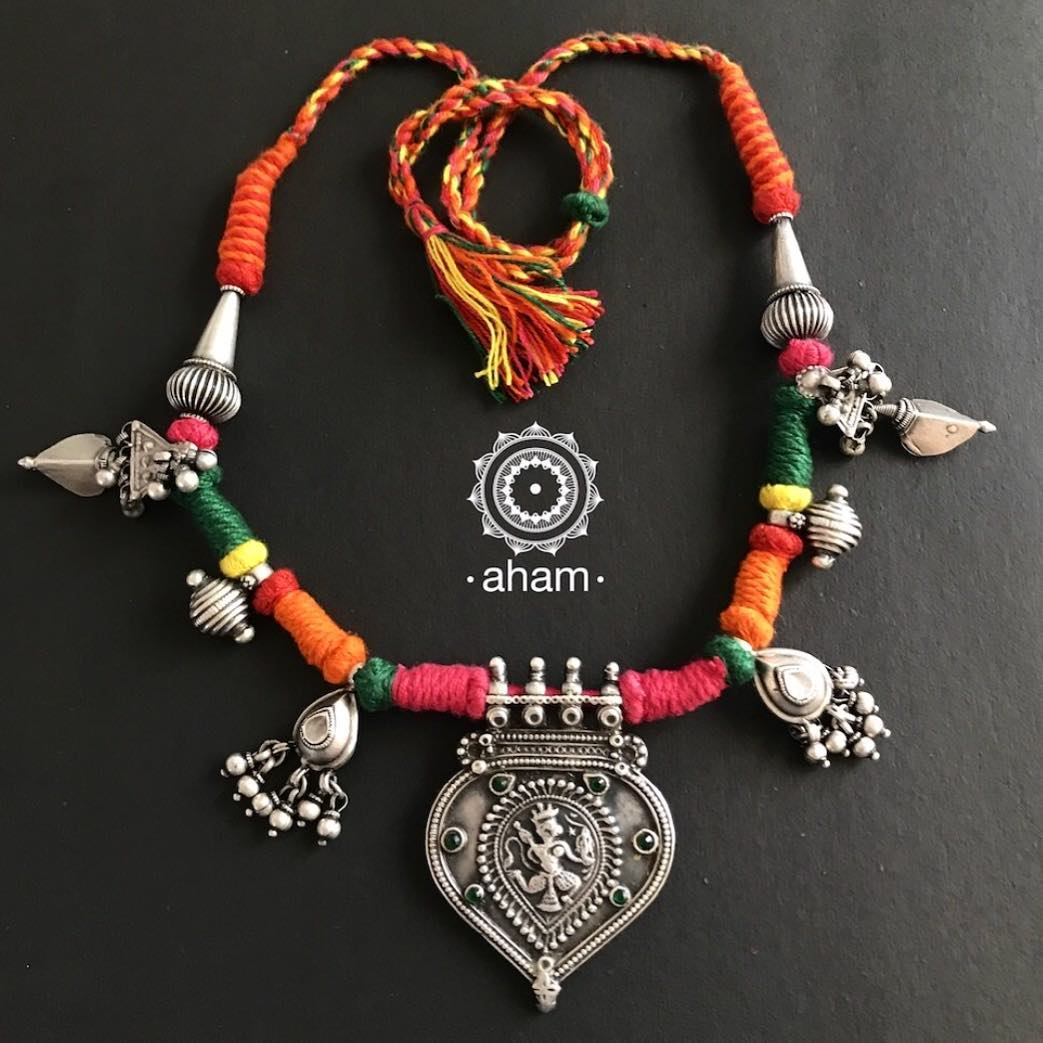 Fashionable Thread Necklace From Aham Jewellery