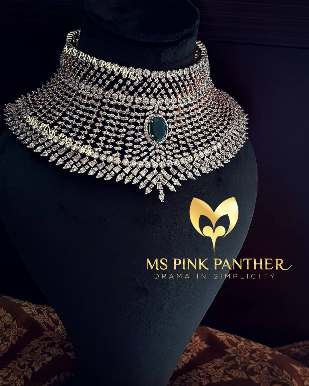 Glittering Bridal Choker From Ms Pink Panthers
