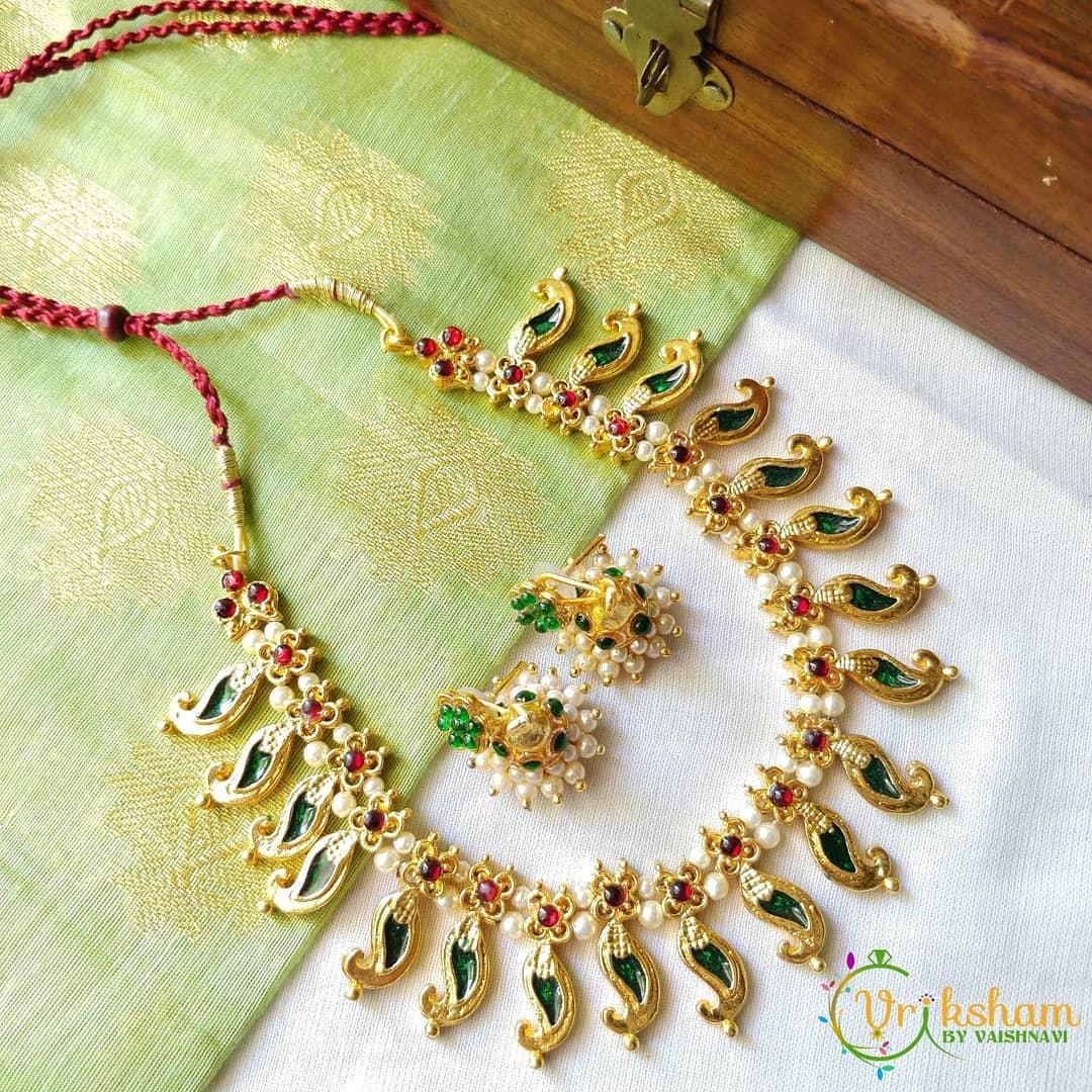 Light Weight Necklace From Vriksham