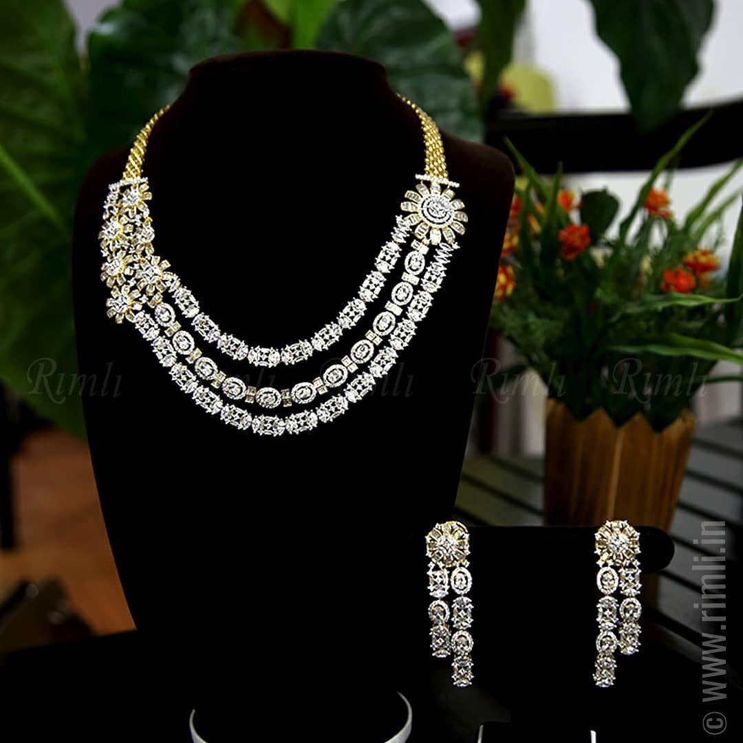 Luxury layered zircon set From Rimli Boutique